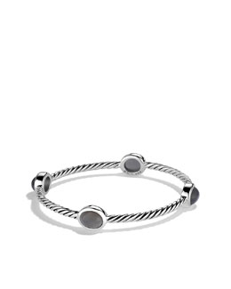 David Yurman Color Classics Four-Station Bangle with Gray Moonstone