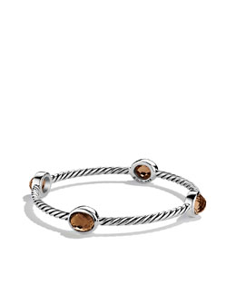 David Yurman Color Classics Four-Station Bangle with Smoky Quartz