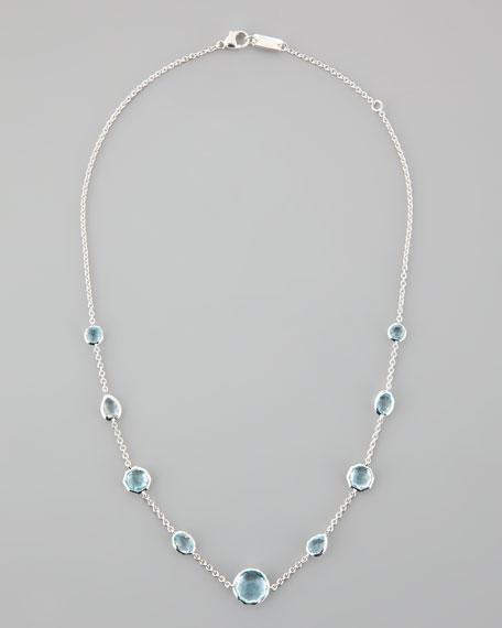 Blue Topaz Rock Candy Necklace