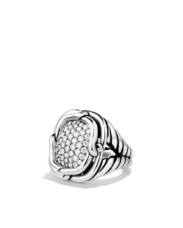 David Yurman Labyrinth Large Ring with Diamonds