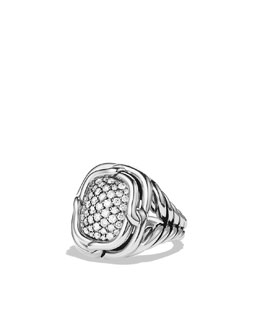 David Yurman Labyrinth Small Ring with Diamonds