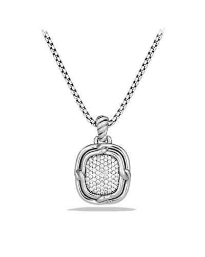 Labyrinth Medium Pendant with Diamonds
