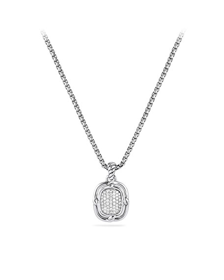 Labyrinth Small Pendant with Diamonds