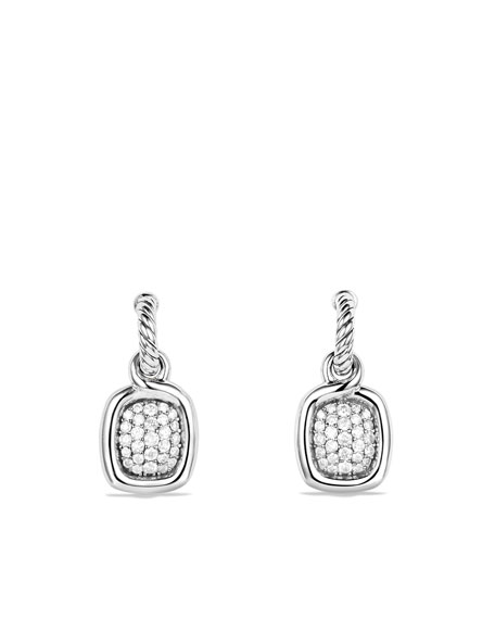 Labyrinth Drop Earrings with Diamonds