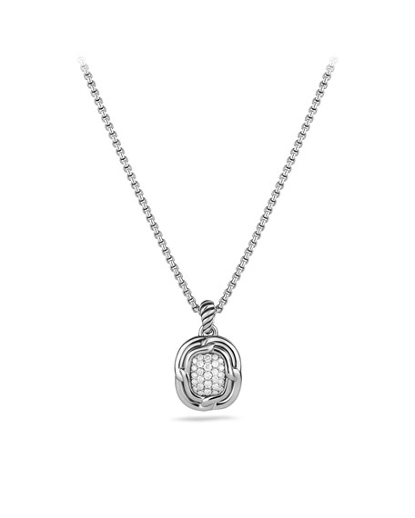Labyrinth Pendant with Diamonds on Chain