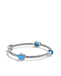 David Yurman Color Classics Four-Station Bangle with Hampton Blue Topaz