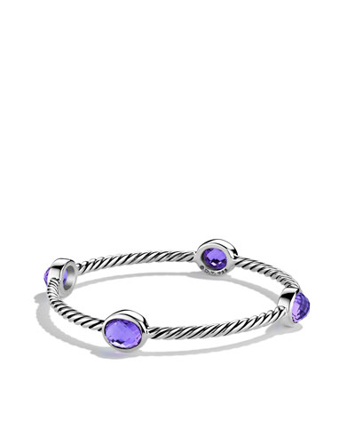 David Yurman Color Classics Four-Station Bangle with Amethyst
