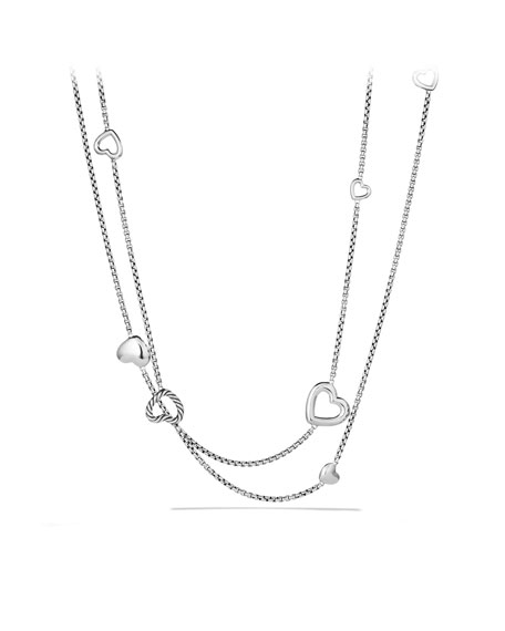 Cable Heart Chain Necklace