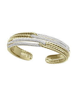 David Yurman Labyrinth Bracelet, Pave Diamonds