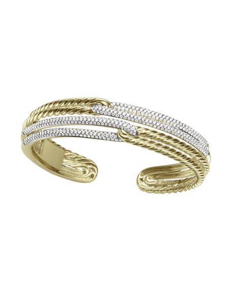 Labyrinth Bracelet, Pave Diamonds