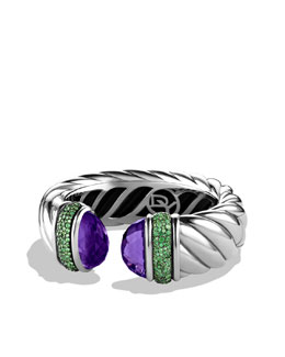 David Yurman Waverly Bracelet with Amethyst and Tsavorites