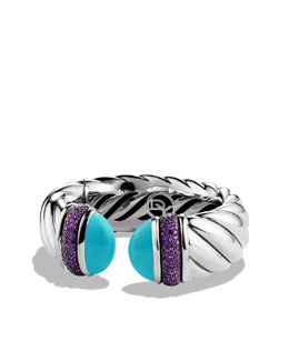 David Yurman Waverly Bracelet with Turquoise and Amethyst