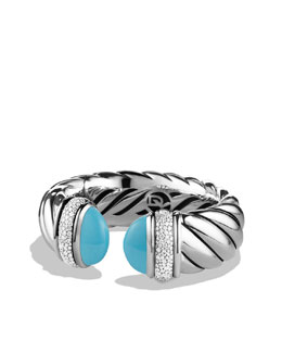 David Yurman Waverly Bracelet with Turquoise and Diamonds