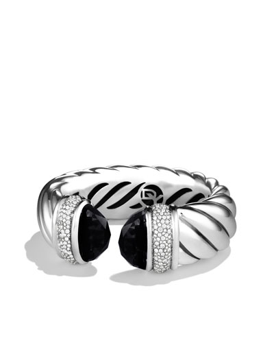 David Yurman Waverly Bracelet with Black Onyx and Diamonds