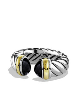David Yurman Waverly Bracelet with Black Onyx and Gold