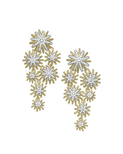 David Yurman Starburst Cluster Earrings with Diamonds in Gold