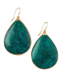 Devon Leigh Teardrop Chrysocolla Earrings