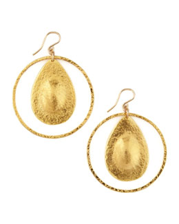 Devon Leigh Teardrop Hoop Earrings