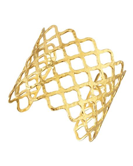 Woven Gold Cuff