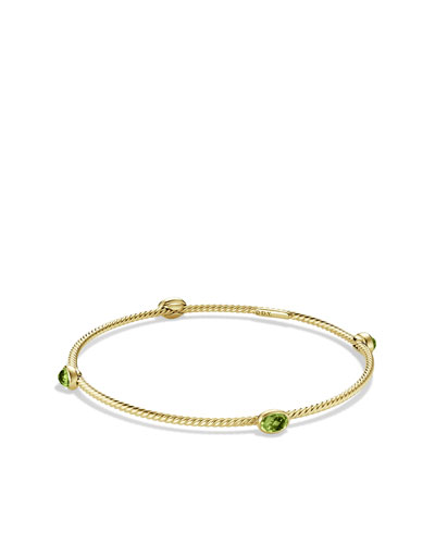 David Yurman Color Classics Four-Station Bangle with Peridot in Gold