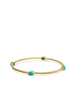 David Yurman Cable Classics Bangle Bracelet, Turqoise
