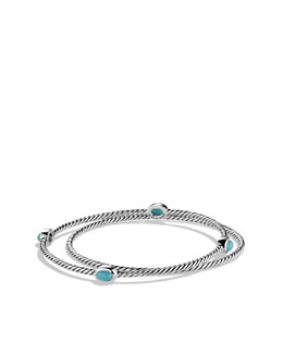 David Yurman Color Classics Bangles with Turquoise