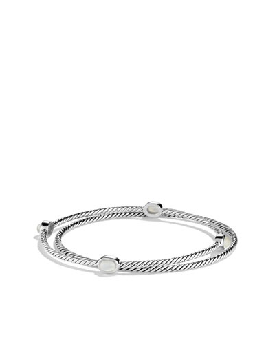 David Yurman Color Classics Bangles with Moon Quartz