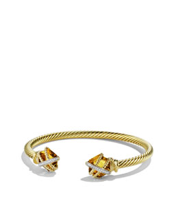 David Yurman Cable Wrap Bracelet, Champagne Citrine, 4mm