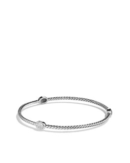 David Yurman Confetti Three-Station Bangle with Diamonds
