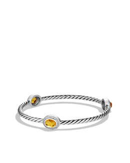 David Yurman Color Classics Three-Station Bangle with Citrine and Diamonds