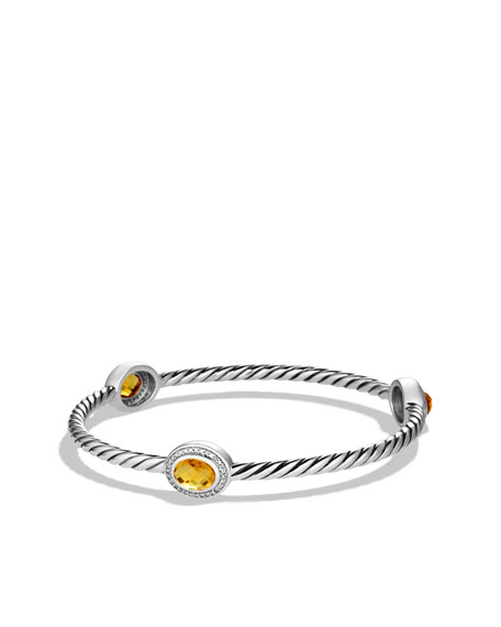 Color Classics Three-Station Bangle with Citrine and Diamonds