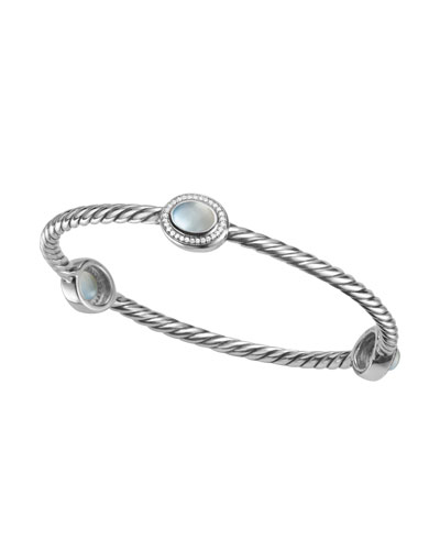 David Yurman Color Classics Bangle Bracelet, Moon Quartz