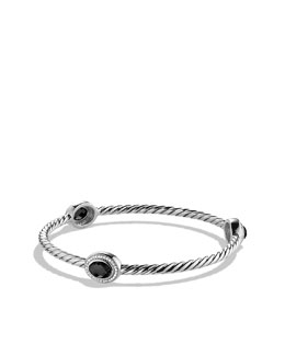 David Yurman Color Classics Three-Station Bangle with Black Onyx and Diamonds