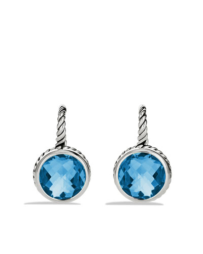 David Yurman Color Classics Drop Earrings with Blue Topaz