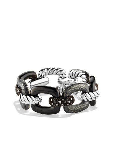 David Yurman Midnight Mélange Link Bracelet with Diamonds