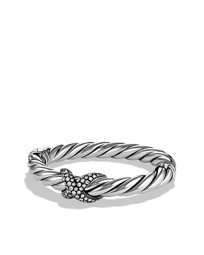 David Yurman X Collection Wide Bracelet with Diamonds