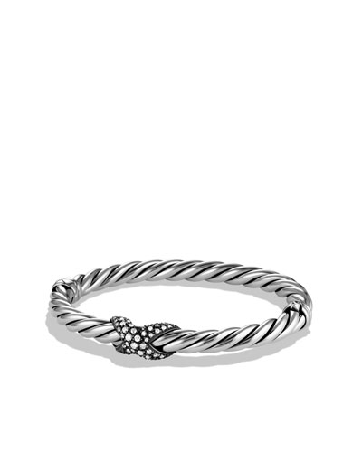David Yurman X Collection Narrow Bracelet with Diamonds