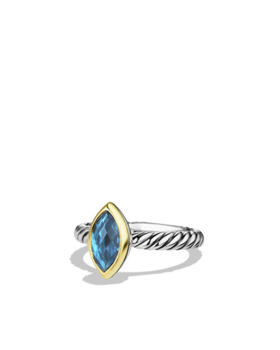 David Yurman Color Classics Ring with Hampton Blue Topaz and Gold