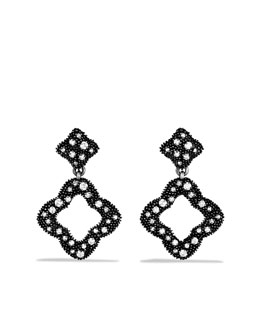 David Yurman Midnight Melange Earrings, Pave Diamonds
