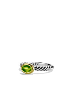 David Yurman Color Classics Ring with Peridot and Gold