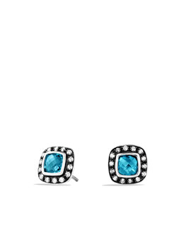 David Yurman Petite Albion Earrings with Hampton Blue Topaz and Diamonds