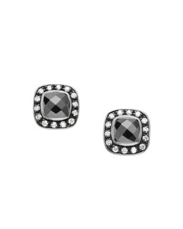 David Yurman Moonlight Ice Earrings, Hematite, 5mm