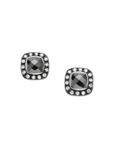 Moonlight Ice Earrings, Hematite, 5mm