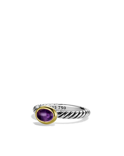 David Yurman Color Classics Ring with Amethyst and Gold