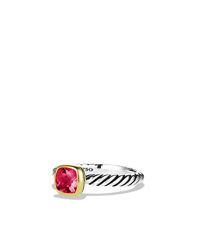 David Yurman Color Classics Ring with Pink Tourmaline and Gold