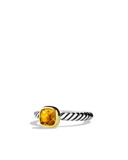 David Yurman Color Classics Ring with Citrine and Gold