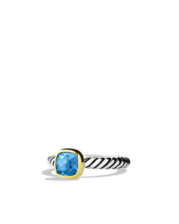 David Yurman Color Classics Ring with Hampton Blue