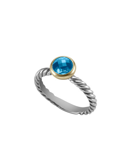 Color Classics Ring with Hampton Blue Topaz and Gold