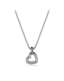 David Yurman Cable Heart Pendant, Diamonds