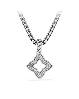 David Yurman Quatrefoil Pendant with Diamonds